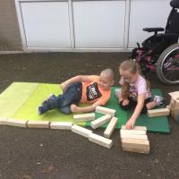 Building with the jenga blocks